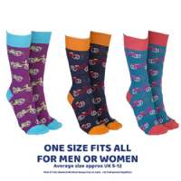 Bicycles ONE SIZE FITS ALL Socks Cotton Rich Unisex - 3 Pairs (1) (2)